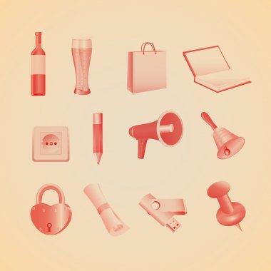 Household items. Vector illustration stock vector