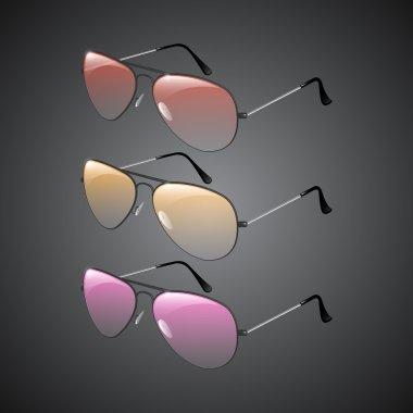 Vector sunglasses,  vector illustration stock vector
