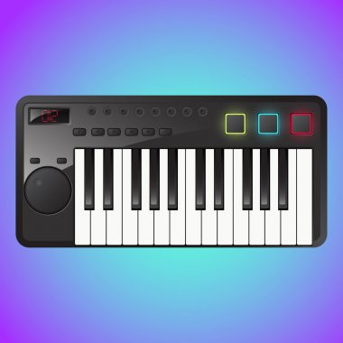Synthesizer sign,  vector illustration stock vector