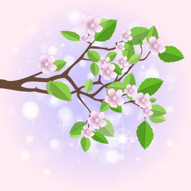 Spring branch,  vector illustration stock vector