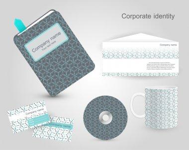 Set of corporate identity templates. Vector illustration. stock vector