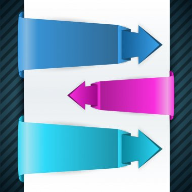 Arrow stickers,  vector illustration stock vector