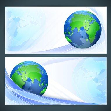 Stylized vector globe. Illustration stock vector