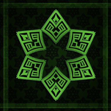 Abstract background green star. Vector illustration stock vector