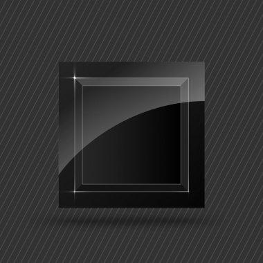 Vector black square button stock vector