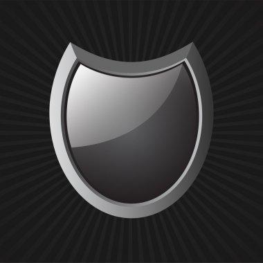 Vector Black Shield. Vector illustration stock vector