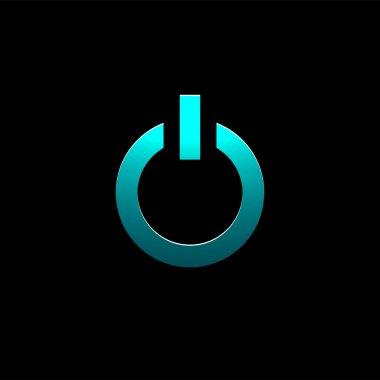 Vector Power button,  vector illustration stock vector