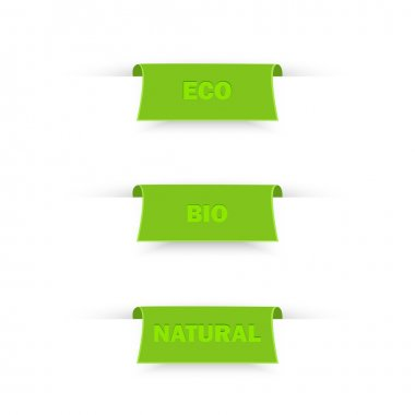 BIO and ECO labels. Vector illustration stock vector