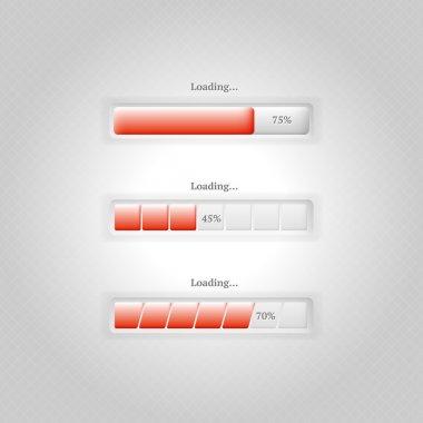 Vector loading bars,  vector illustration stock vector