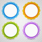 vier Lösungen - Optionen mit Platz für Ihre Inhalte.