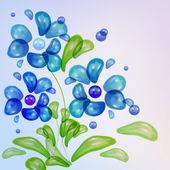 vektorové květ vody kapky