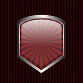 security shield symbol icon vector illustration on black background