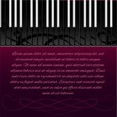 Klaviertaste mit Textfläche. Vektorillustration