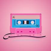 Rózsaszín színes alapon Audio kazetta