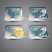 Wettervorhersagesymbole, Vektorillustration