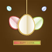 Happy easter card,  vector illustration