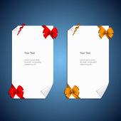 Kártya jegyzeteket ajándék íjak, szalagok