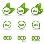 Vektor zöld öko szimbólumok