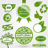 Vector Eco Stamps and Labels. Eco Style.