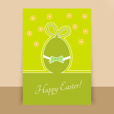 Paper easter egg card. Vector illustration stock vector
