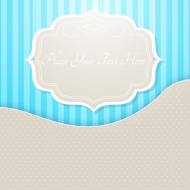 Vector vintage frame,  vector illustration stock vector