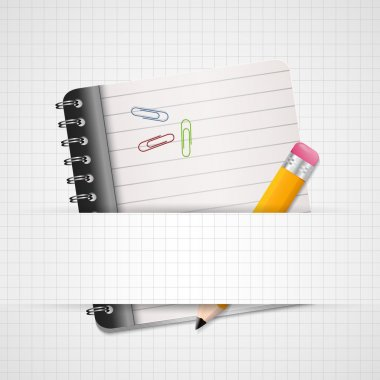 Blank Paper with Notebook Vector stock vector