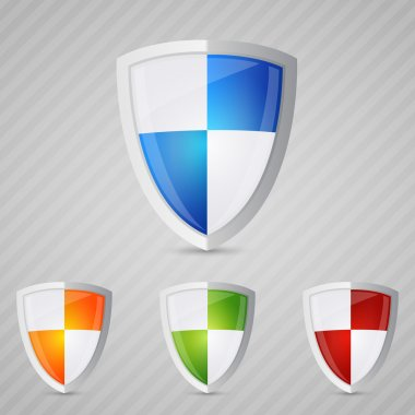 Protection shield. Vector illustration stock vector
