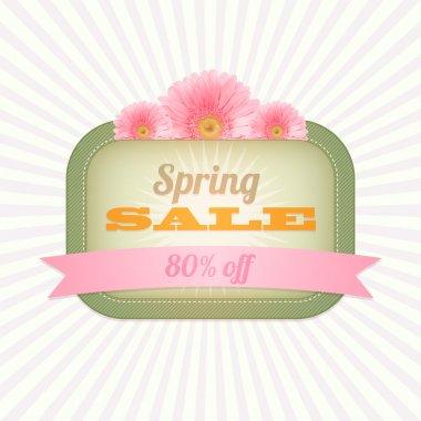 Vintage card - Spring Sale. Vector illustration stock vector
