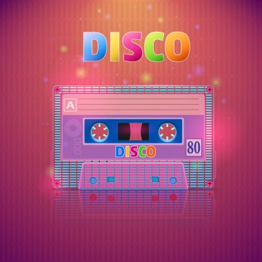 Illustration of a cassette tape with the words of the tape stock vector