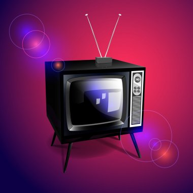 Old-fashioned retro TV. Vector illustration. stock vector