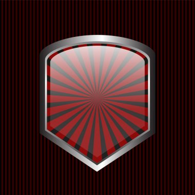 Security shield symbol icon vector illustration on black background stock vector