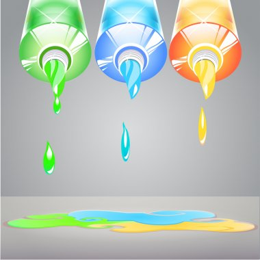 Illustration of isolated tubes of paint stock vector