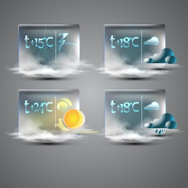 Weather forecast icons,  vector illustration stock vector