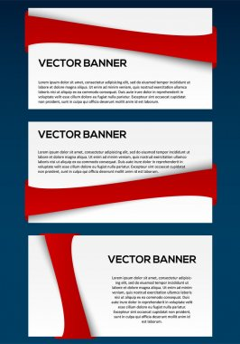 Vecor banner set with red line stock vector