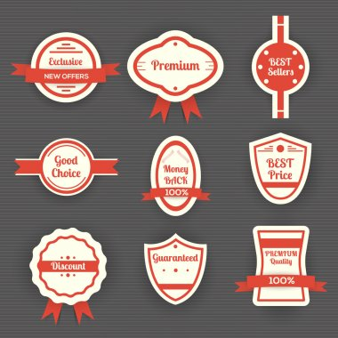 Set of vector sale labels