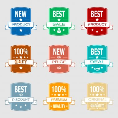 Set of vector sale labels stock vector