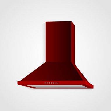 Red cooker hood,  vector illustration stock vector
