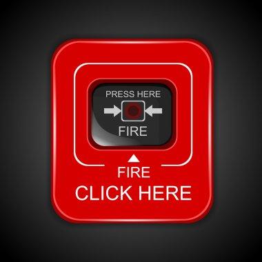 Red fire alarm,  vector illustration stock vector