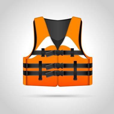 Life vest illustration,  vector illustration