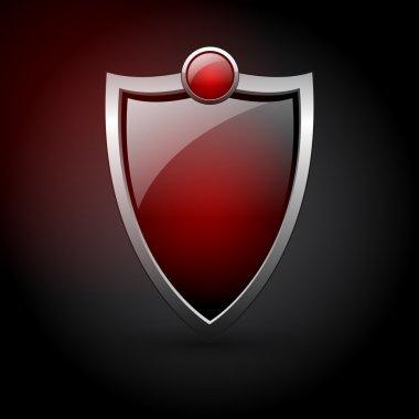 Vector red shield,  vector illustration stock vector