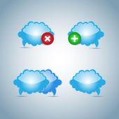 Vektor Cloud Icon, Vektorillustration