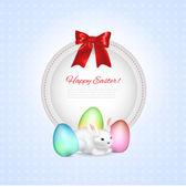 Easter greeting frame,  vector illustration