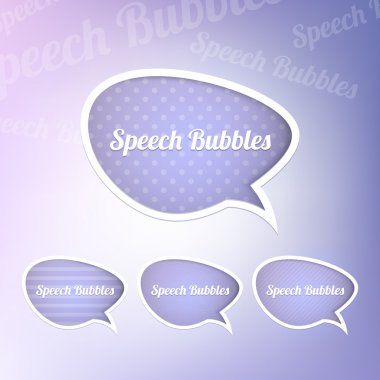 Group of speech bubbles stock vector