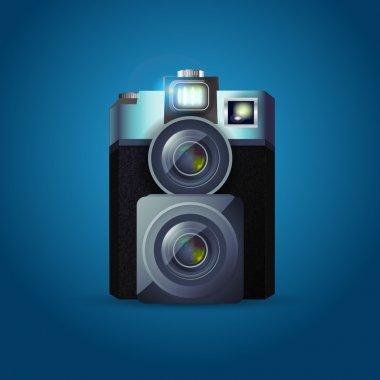 Photo camera illustration,  vector illustration stock vector