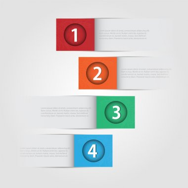 Vector numbered banners,  vector illustration stock vector