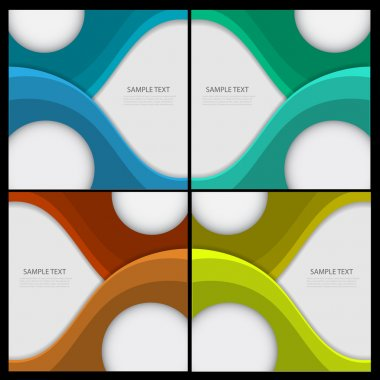 Set of abstract backgrounds stock vector