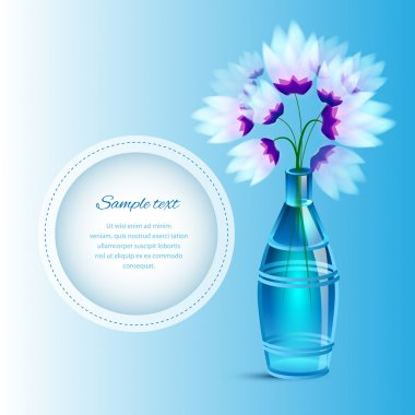 Spring flowers in a vase stock vector