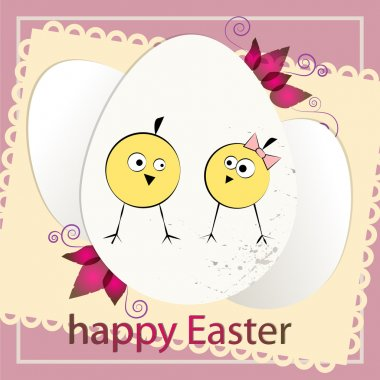 Happy Easter card,  vector illustration stock vector
