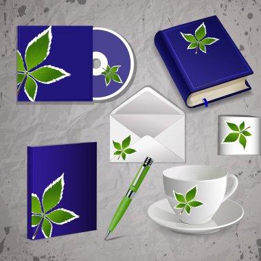 Professional corporate identity kit stock vector