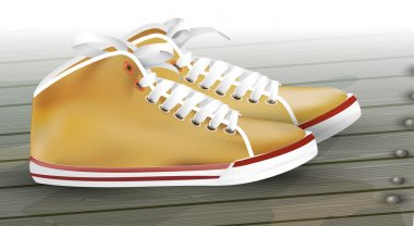 Male Sneakers. Vector illustration. stock vector